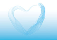 The heart of blue Royalty Free Stock Images