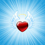 Heart on blue background Royalty Free Stock Photo