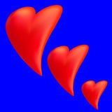 Heart on a blue background Royalty Free Stock Images