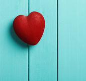 Heart on a blue background Royalty Free Stock Photos