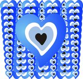 Heart blue bead 01 Royalty Free Stock Photos