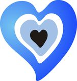 Heart blue bead Stock Images