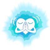 Heart  blue light Stock Image