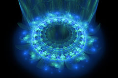 The heart of blue mandala Royalty Free Stock Photos
