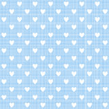 Heart on blue pink texture, vector. Heart on blue seamless pattern, vector Endless texture can be used for wallpaper, pattern fills, web page,background,surface Royalty Free Stock Photography