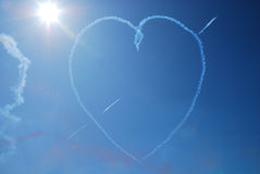 Heart On Blue Sky Royalty Free Stock Images