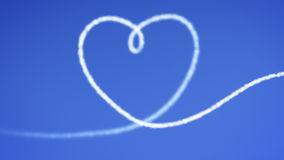 Heart blue sky Stock Photography