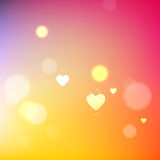 Heart blurred background Stock Images