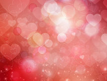 Heart blurred lights on colorfull background, Hearts texture bac Royalty Free Stock Photo