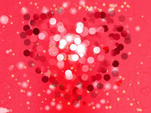 Heart blurred lights on colorfull background, Hearts texture bac Stock Images