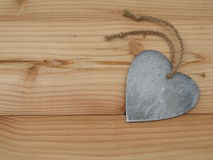 Heart on a board Royalty Free Stock Photo