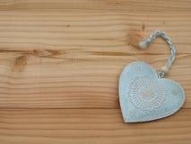Heart on a board Stock Photo