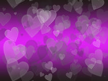 Heart bokeh background Stock Photography