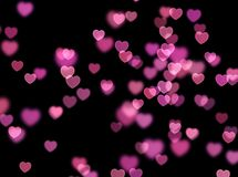 Heart bokeh background. Love Valentine day concept. Blurred stock photo