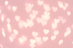 Heart bokeh background. Pastel pink color blurred texture Royalty Free Stock Photo