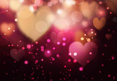 Heart bokeh background Royalty Free Stock Images