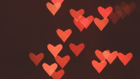 Heart bokeh background. Valentine's day background stock footage