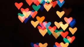 Heart bokeh background stock footage