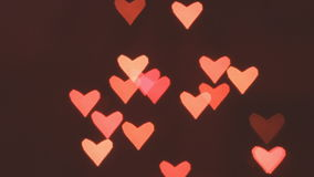 Heart bokeh background stock video