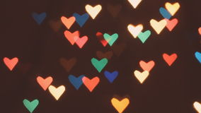 Heart bokeh background stock video footage