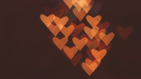 Heart bokeh background. Valentine's day background stock video footage