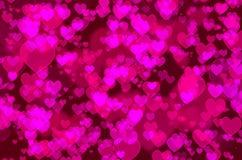 Heart bokeh Stock Images