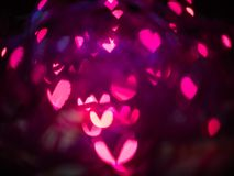 Heart bokeh background, Valentine's day. Heart bokeh background, Love Valentine's day background Royalty Free Stock Photography