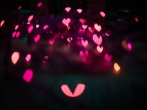 Heart bokeh background, Valentine's day. Heart bokeh background, Love Valentine's day background Royalty Free Stock Photo