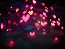 Heart bokeh background, Valentine's day. Heart bokeh background, Love Valentine's day background Royalty Free Stock Photos