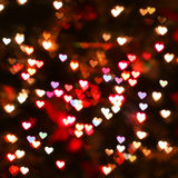 Heart bokeh background. Valentine's day Royalty Free Stock Photography