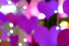 Heart bokeh blur background Stock Photography