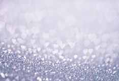 Heart bokeh. Colored bokeh, christmas and valentinas day background Royalty Free Stock Photo