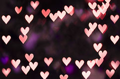 Heart bokeh with copy space Royalty Free Stock Image