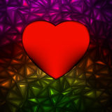 Heart bokeh frame with space. EPS 8 Royalty Free Stock Images