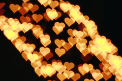 Heart bokeh light Royalty Free Stock Image