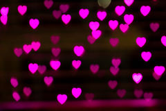 Heart bokeh light Royalty Free Stock Photo
