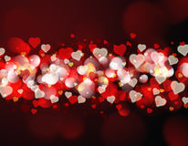 Heart bokeh light background Stock Images