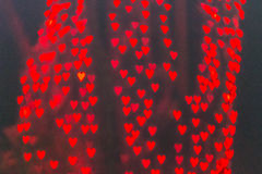 Heart bokeh light Stock Image