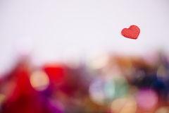 Heart with bokeh light Vintage background Royalty Free Stock Photos