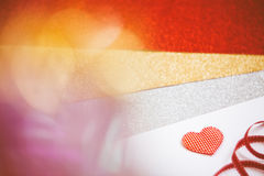 Heart with bokeh light Vintage background Royalty Free Stock Photo