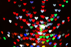 Heart bokeh Royalty Free Stock Photos