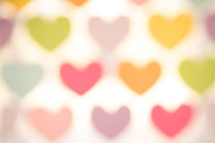 Heart bokeh. St. Valentine's Day bokeh background Stock Photography