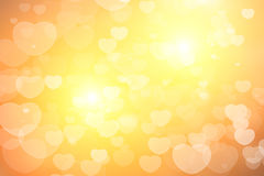 Heart Bokeh. For valentine Background Royalty Free Stock Photography