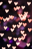 Heart bokeh - Valentine's Day background. Gold heart bokeh - Valentine's Day background Royalty Free Stock Photo