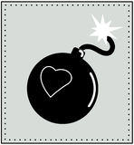 Heart and bomb Royalty Free Stock Image
