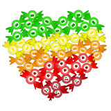 Heart from bonbons Stock Photo