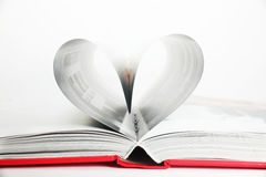 Heart in book Royalty Free Stock Images