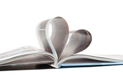 Heart in book Royalty Free Stock Image