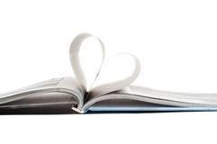 Heart in book Royalty Free Stock Photos