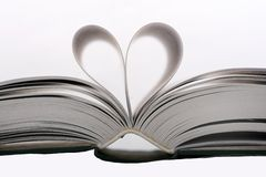 Heart book. Heart shape with pages of book Royalty Free Stock Photography